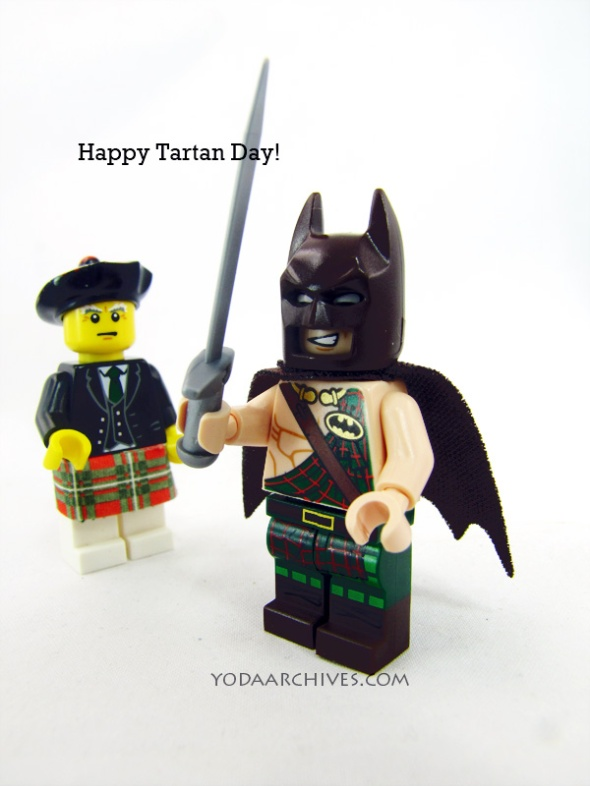Batman wearing a kilt