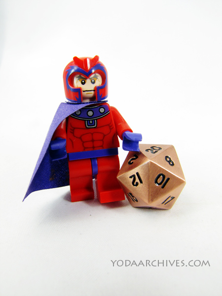 Lego Magneto cheating in RPG with metal dice