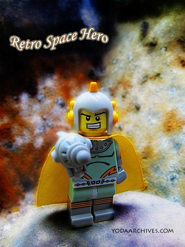 legp retro space hero lands on alien planet