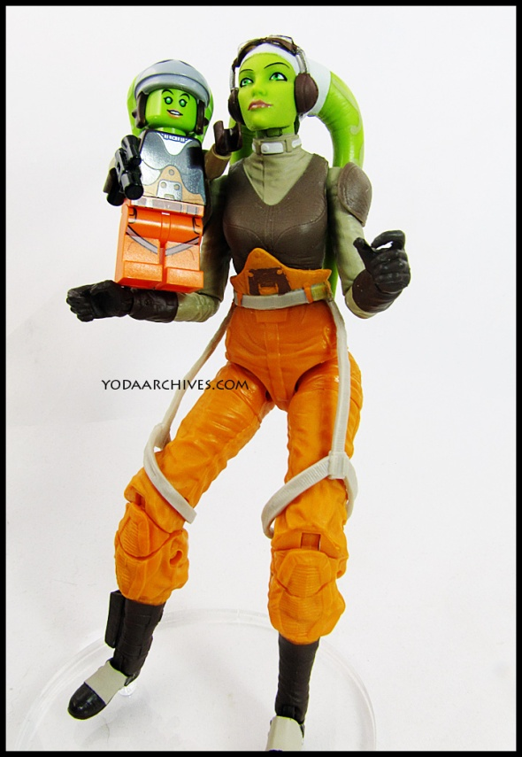 Hera from Rebels, black series and LEGO versions of Hera