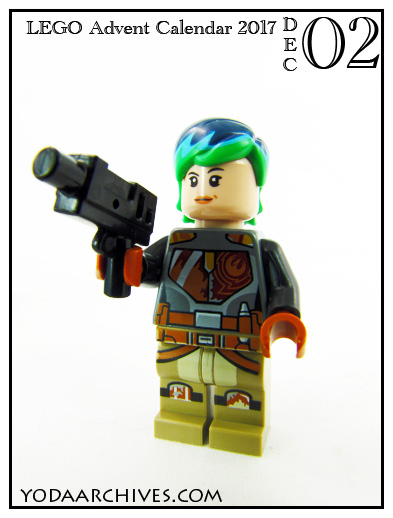 LEGO Sabine Wren minifigure from star wars advent