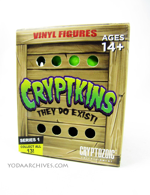 Cryptkins crate tpy packaging looks like a wooded crate with air holes