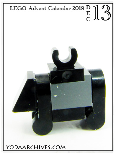 lego mouse droid. mini build with gray and black bricks.