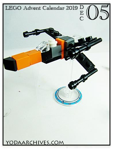 Poe's X-wing mini lego build.