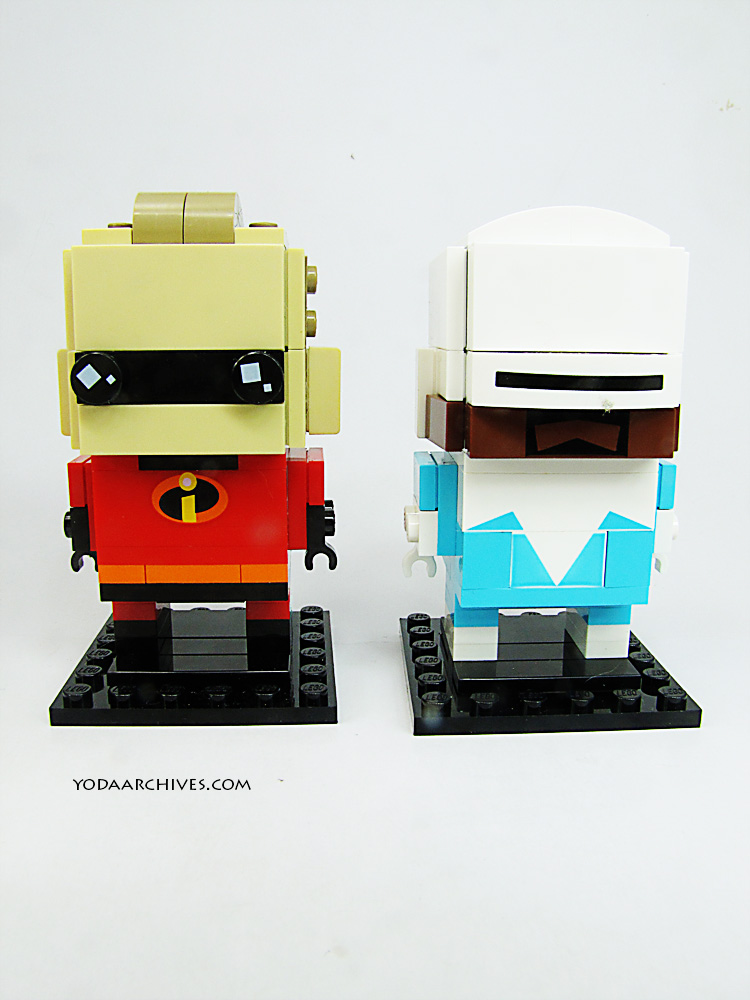 mr incrdible and frozone LEGO Brick heads.