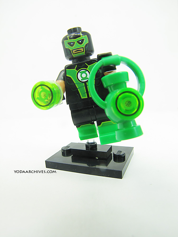lego green lantern in flight.