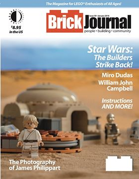 brickjornal magazine cover of lars homestead from star wars.
