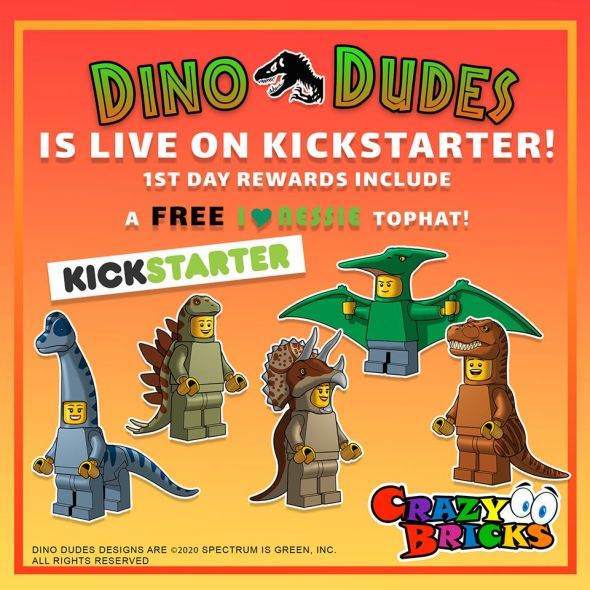 dinosaur costume for LEGO miniifigs.