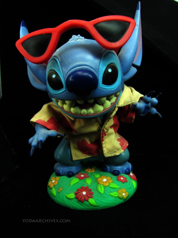 Stitch bobble head toy.