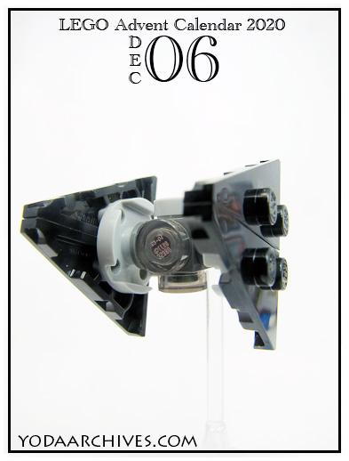 mini lEGO build sith tie fighter.