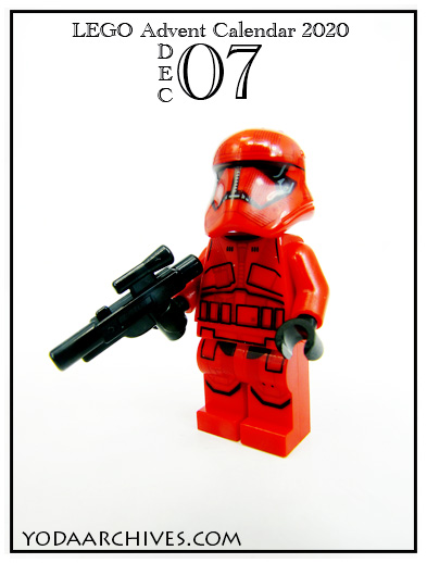 LEGO Sith trooper in red armor.