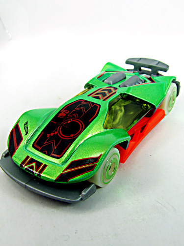 Green hot wheels car.very stylish race car.