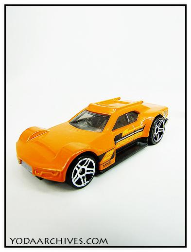 orange race car.