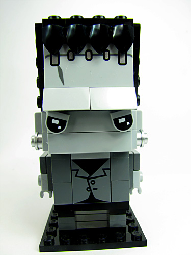 Frankenstein brick headz. It id monochrome like an old movie.