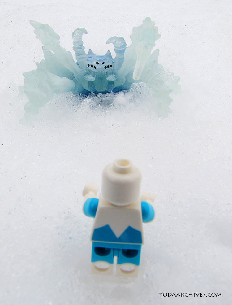 Frozone faces a giant ice spider.