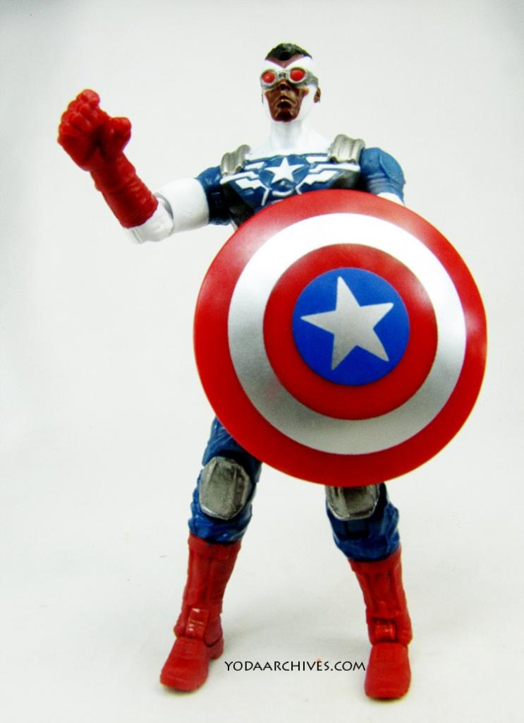 Sam wilson the Falcon in his Captain America costume.