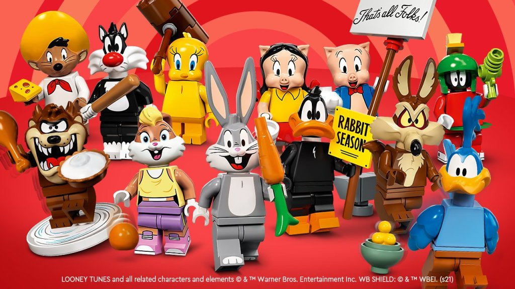 LEGO mini figs of WN looney Tunes characters.